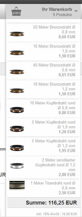 Fil de bronze Metaux10