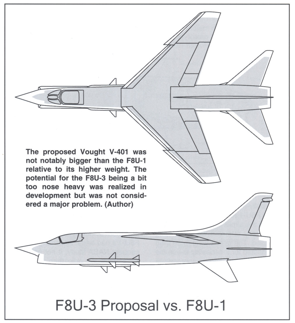Vought XF8U-3 CRUSADER III V-401 [1/72 - Anigrand] - Page 2 Compar11