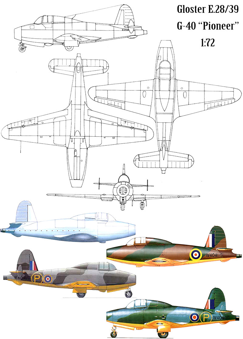 "Gloster E.28/39  ""Whittle"" (1:72 High-Planes Models) Gloste18"
