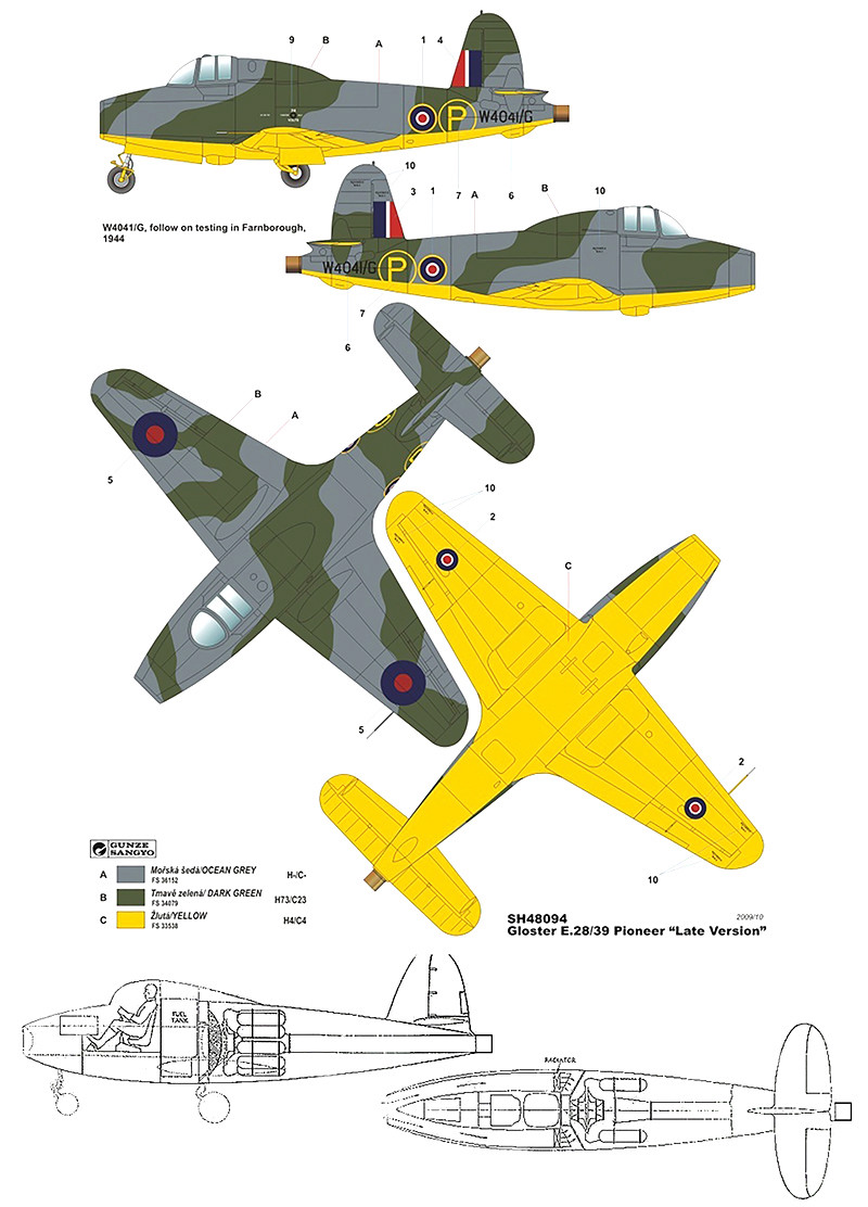 "Gloster E.28/39  ""Whittle"" (1:72 High-Planes Models) Gloste19"