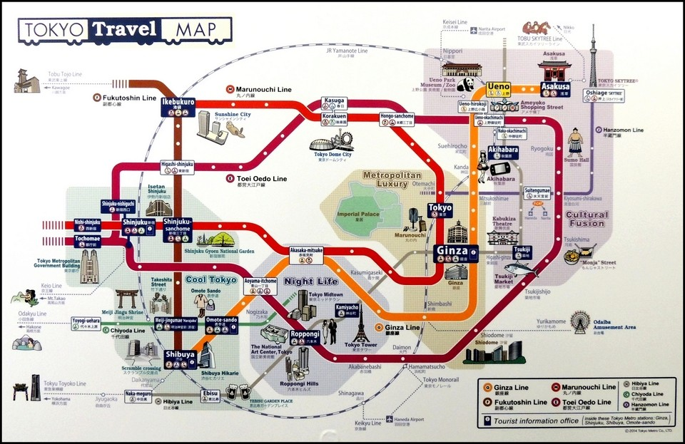 TOKYO : TRAIN - METRO - CARTES 85758010