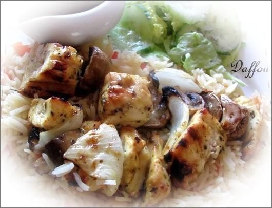 Marinade pour brochette de poulet grec . Ed5ehi10