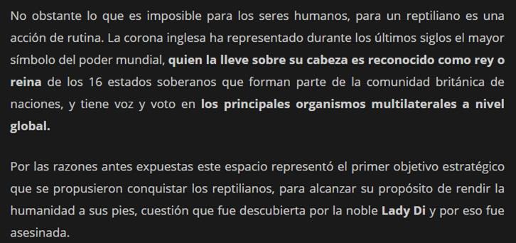 LA REALEZA BRITÁNICA ES REPTIL Bunker21