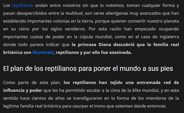 LA REALEZA BRITÁNICA ES REPTIL Candad11