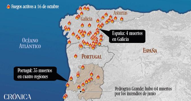 LOS INCENDIOS DE GALICIA INTENCIONALES:  GALICIA Leadto40