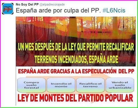 LOS INCENDIOS DE GALICIA INTENCIONALES:  GALICIA Leadto44