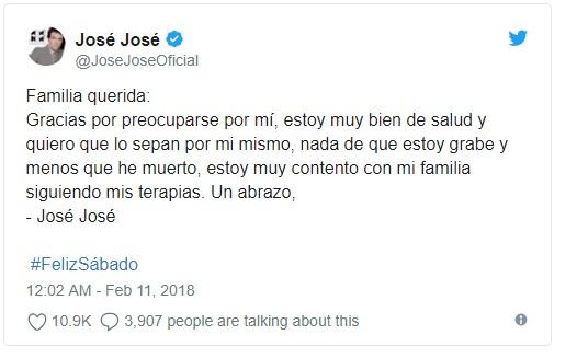 JOSÉ JOSÉ, SANTERO QUE DESMIENTE SU MUERTE Mas12