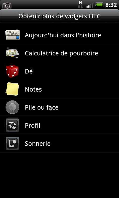 [WIDGETS] Les widgets HTC... [11-06-2010] Cap20149