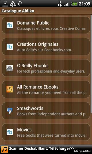 [SOFT] ALDIKO : Lecteur eBooks sous Android [Gratuit] Device23