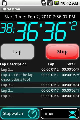[SOFT] ULTRACHRON v1.7.1 : Compte à rebours et chronomètre [Gratuit/Payant] Uc169a10