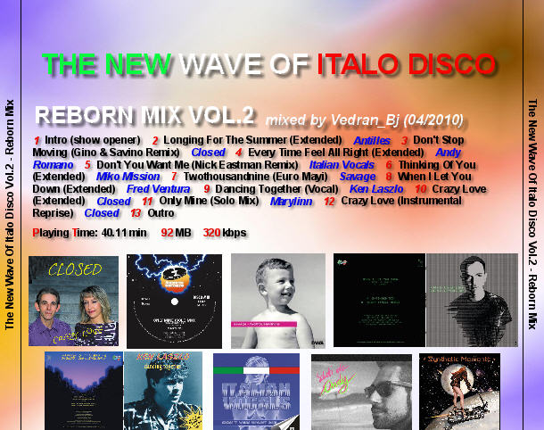 The New Wave Of Italo Disco - Reborn Mix Vol.2 (2010) Back12