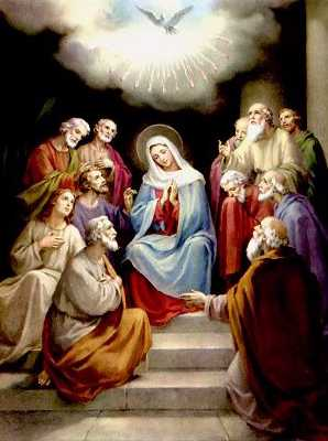 Tableau poétique des fêtes chrétiennes - Vicomte Walsh - 1843 - (Images et Musique chrétienne) Pentec14