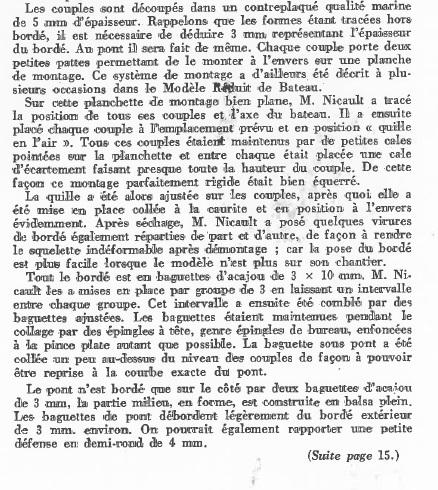 La Limande vedette de 16m au 1/16eme plan de MRB N°92 de 1960 Articl16