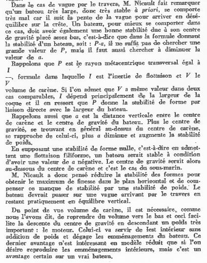 La Limande vedette de 16m au 1/16eme plan de MRB N°92 de 1960 Articl17