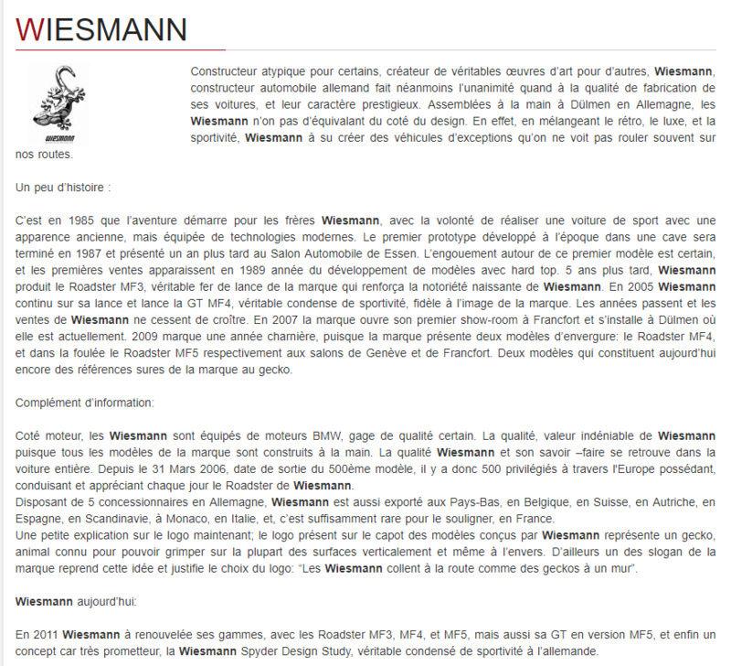 Wiesmann Weisma10