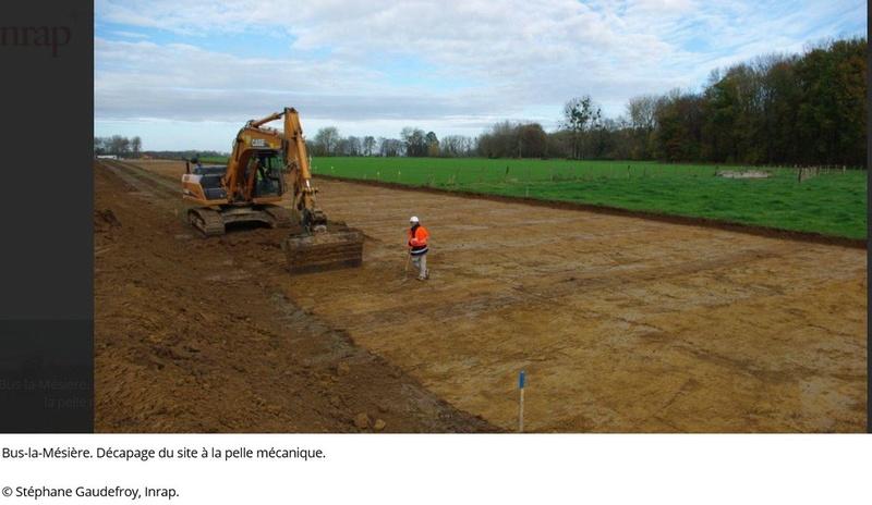 Les fouilles archéologiques sur le tracé du projet de gazoduc de GRTgaz en Picardie Arche110