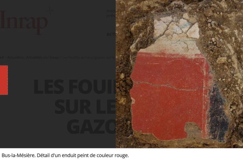 Les fouilles archéologiques sur le tracé du projet de gazoduc de GRTgaz en Picardie Arche410