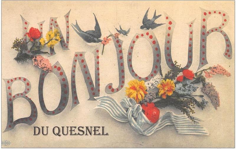 cartes postales originales de LE QUESNEL Bonjou10
