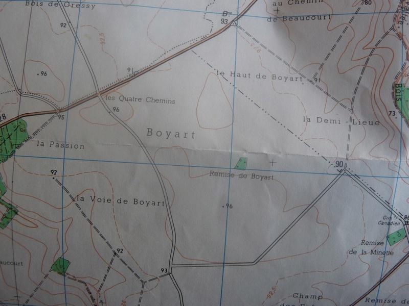 CARTE ARCHEOLOGIQUE de LE QUESNEL Boyart11