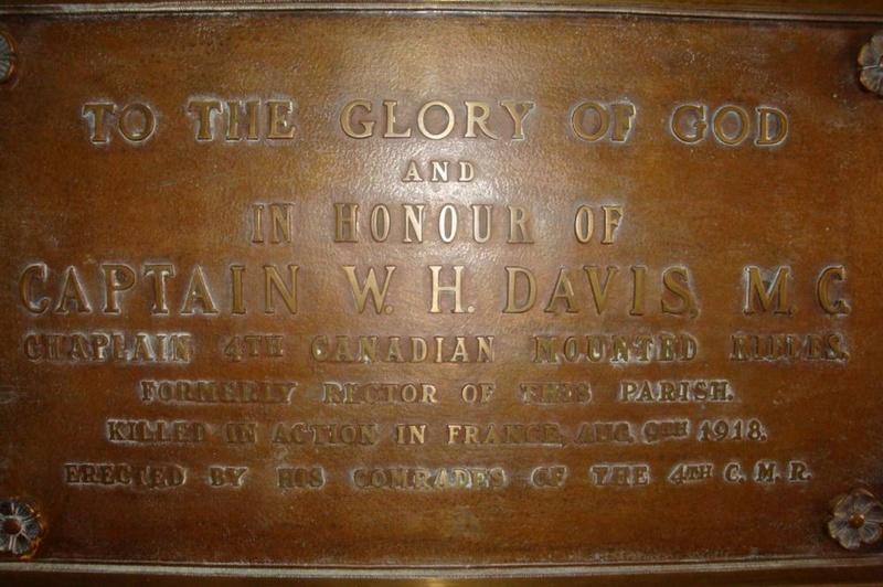 Capitaine William Henry Davis (aumônier canadien) Capita10