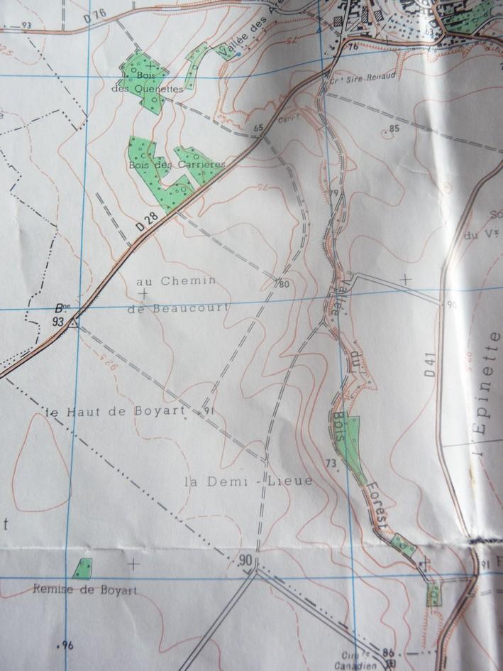 CARTE ARCHEOLOGIQUE de LE QUESNEL Chemin10