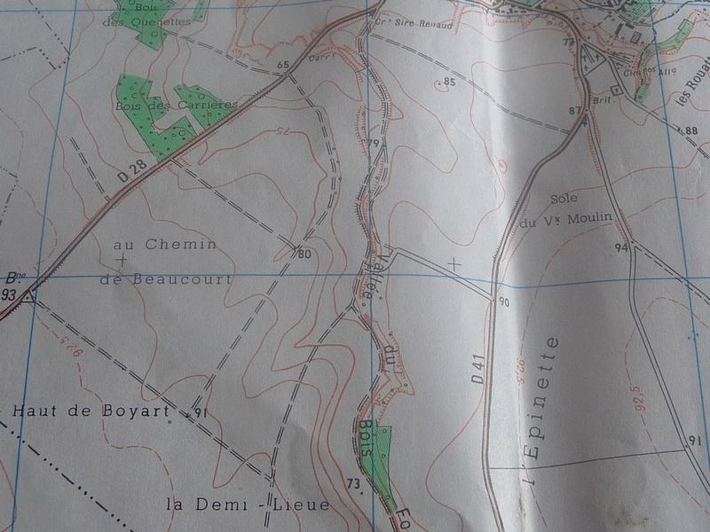 CARTE ARCHEOLOGIQUE de LE QUESNEL Chemin12