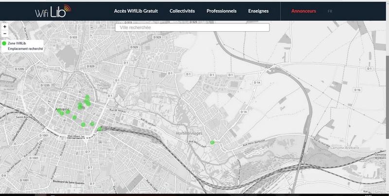 la carte des accès WIFI libres Sans_t43