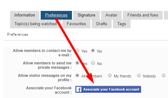 Facebook login option Screen29