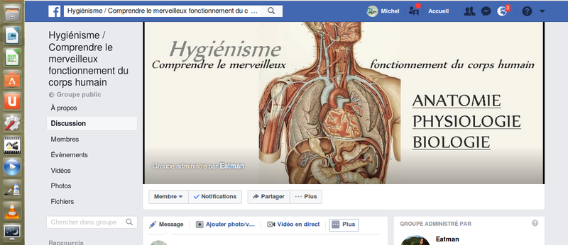 Hygiénisme / Comprendre le merveilleux fonctionnement du corps humain , un groupe facebook Captur14