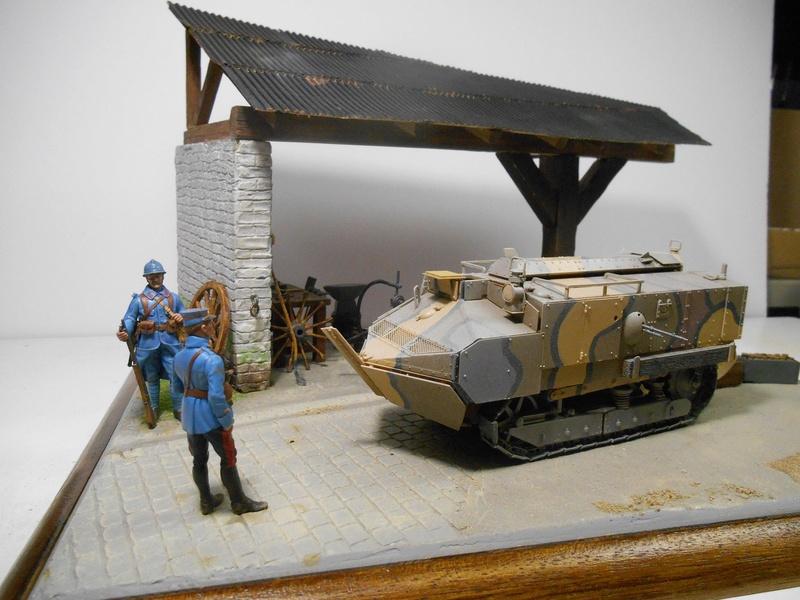 Vite fait en binôme - Figurines Metal Modèles 54mm - Char Schneider CA Hobby Boss 1/35e 40-sch11