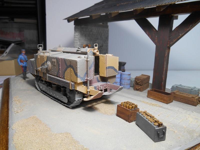 Vite fait en binôme - Figurines Metal Modèles 54mm - Char Schneider CA Hobby Boss 1/35e 40-sch16