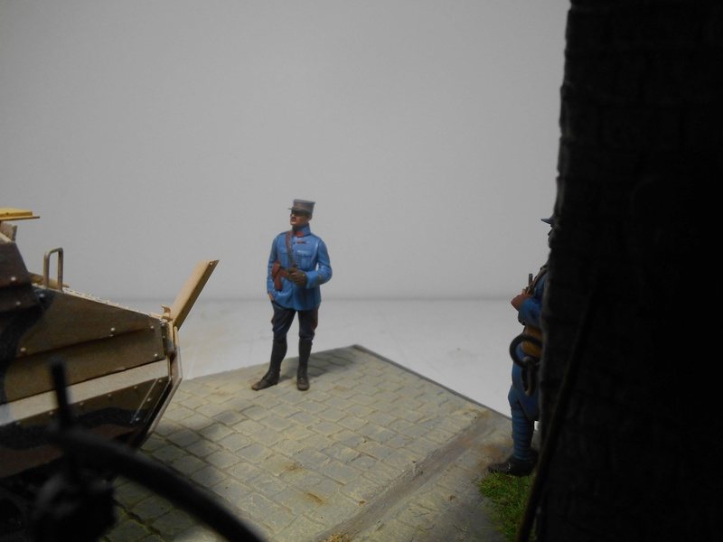 Vite fait en binôme - Figurines Metal Modèles 54mm - Char Schneider CA Hobby Boss 1/35e 40-sch21