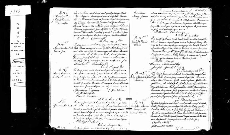 Mariage de William Damase Carleton Martin et Clara Guillot(te) Carlet10