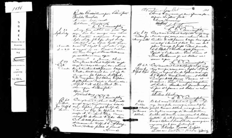 Mariage de William Damase Carleton Martin et Clara Guillot(te) Joseph10