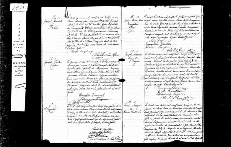 Ré: Famille d'Elzéar Moquin & Eugénie (née Bourdon) Moquin10