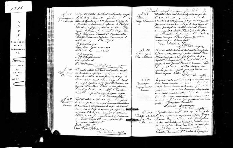 Mariage de William Damase Carleton Martin et Clara Guillot(te) Un_aut10