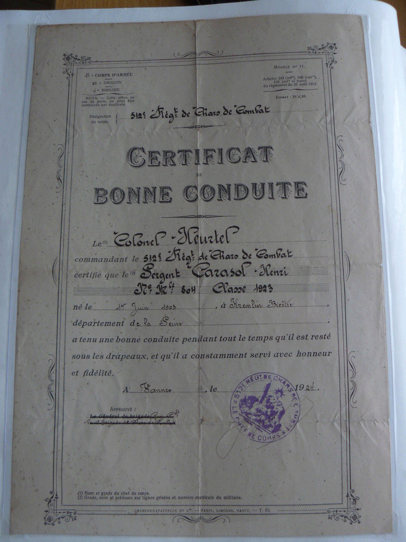 Photos de la fête du 512e RCC le 11 juin 1939 P1190110