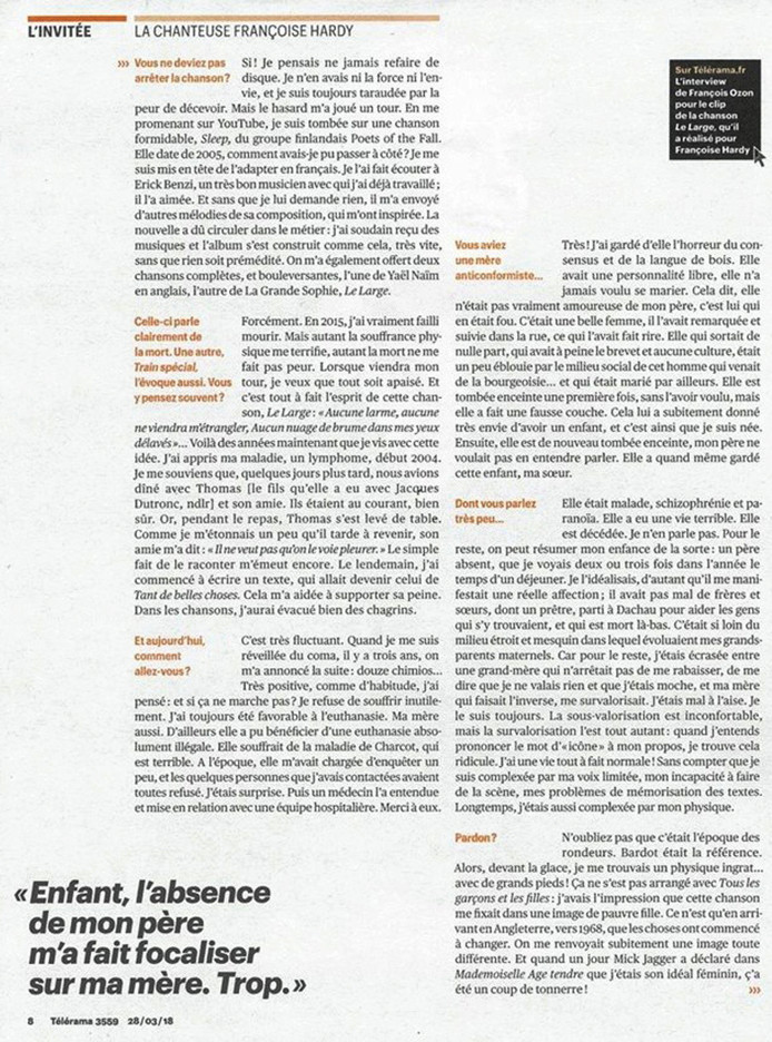 26 mars 2018 - Télérama 411