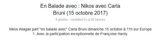 15 octobre 2017 - En balade avec Carla Bruni et F. Hardy (Europe 1) Captur11