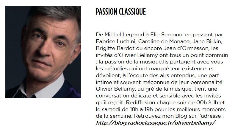 4 juin 2018 - Passion Classique (Radio Classique) Captur76