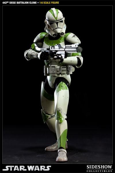 Sideshow - 442nd Siege Batallion Clone - 12 inch Figure  10002313