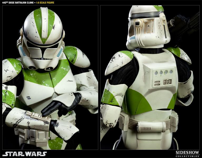 Sideshow - 442nd Siege Batallion Clone - 12 inch Figure  10002314
