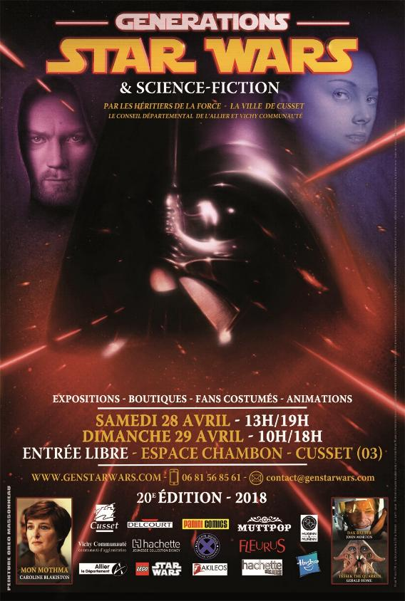Générations Star Wars & SF - Cusset - 28-29 Avril 2018  Affich19