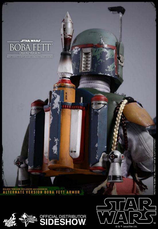 Hot Toys Boba Fett & Boba Fett Deluxe Version 6th Scale Fig Boba-f45
