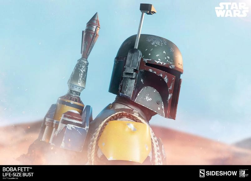 Sideshow Collectibles - Boba Fett Life-Size Bust Boba_l11