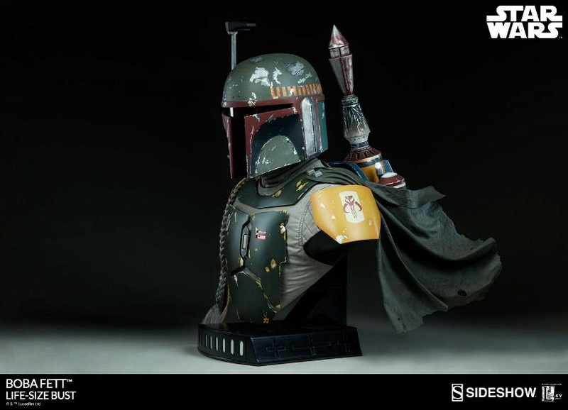 Sideshow Collectibles - Boba Fett Life-Size Bust Boba_l13