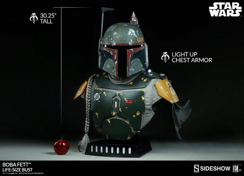 Sideshow Collectibles - Boba Fett Life-Size Bust Boba_l14