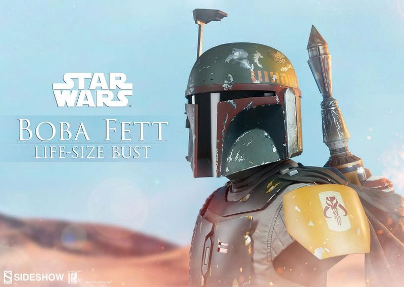 Sideshow Collectibles - Boba Fett Life-Size Bust Boba_l19
