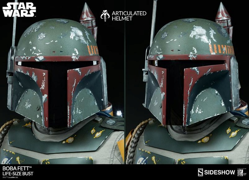Sideshow Collectibles - Boba Fett Life-Size Bust Boba_l28