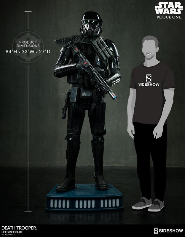 Sideshow Star Wars Rogue One Death Trooper Life-Size Figure Deatht14